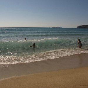 Falassarna beach: golden sand, crystal water