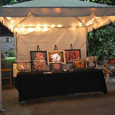 Village Crawl at the Art and Wine Promenade, local artist