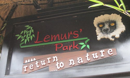 The sign as you enter the park