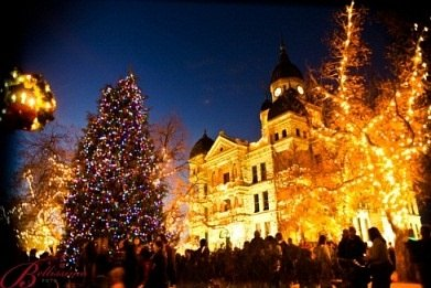 Denton's Courhouse during Holiday Lighting Festival