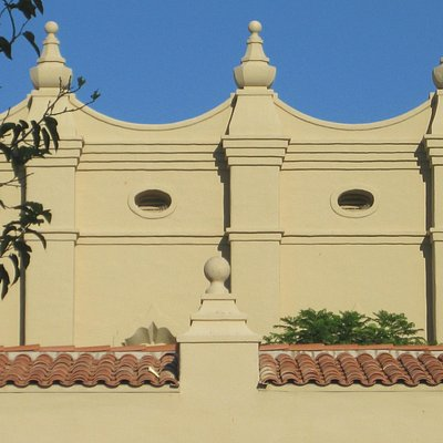 Brophy Chapel-pt of the roof