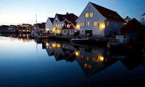Beautiful Skudeneshavn at sunset.