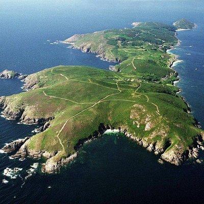 Panorámica aérea de la Isla de Ons