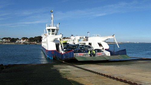 Sanbanks ferry from Bramble Bush Bay side