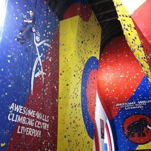 Awesome Walls Liverpool. Ideal for seasoned climbers or new beginners!