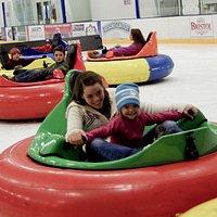 Bumper Cars on Ice = Fun!