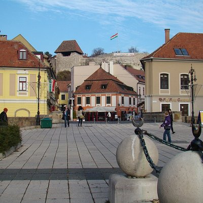 View of square and statue