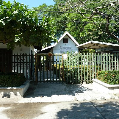 Das kl. Museum in Aracataca von außen