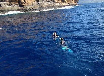snorkeling the backside of Molokini!
