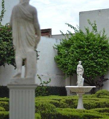 jardim do museu