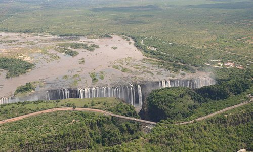 Victoria Falls - Arial view