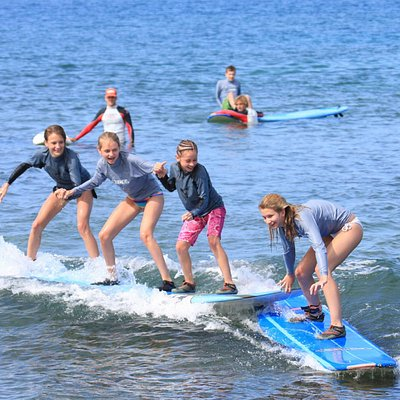 Private Surf Lessons for Three or more