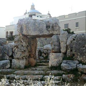 Ta'Hagrat Main Temple Looking Towards the Church