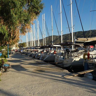 Greek Sails yachts on the quayside at our Poros base
