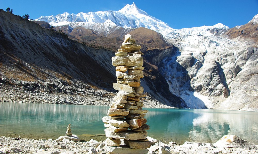 view of Birendra Lake In Manasalu Region