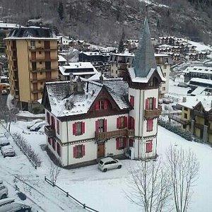 nevicata mattutina ad Aprica