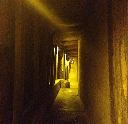 view in the tunnels