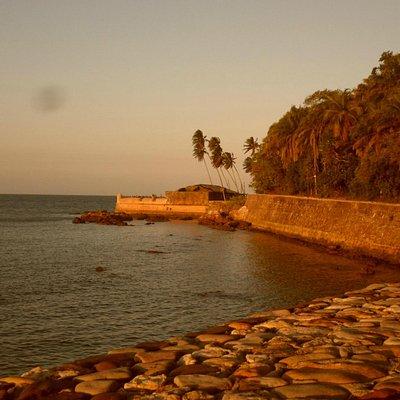 Vista da fortaleza em Morro de SP