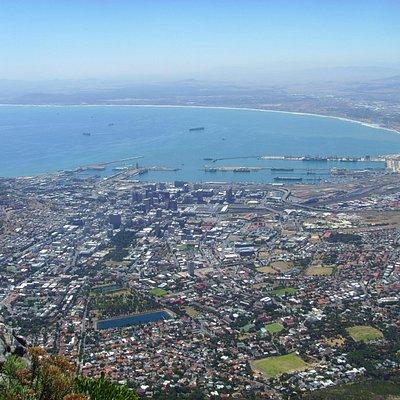 Utsikt från Taffelberget över Kapstaden