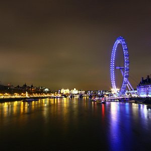 View from the Westminster bridge at night.