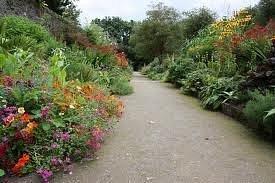 beautiful walkway through top garden