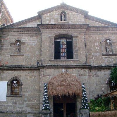 Stone facade of the church