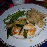Chicken Cordon Verde w/Shrimp, Poblano Chile & Green Onions