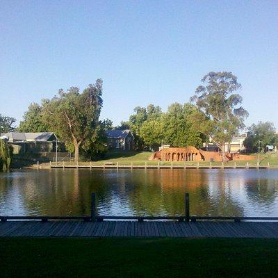 Lake Benalla from the Art Gallery