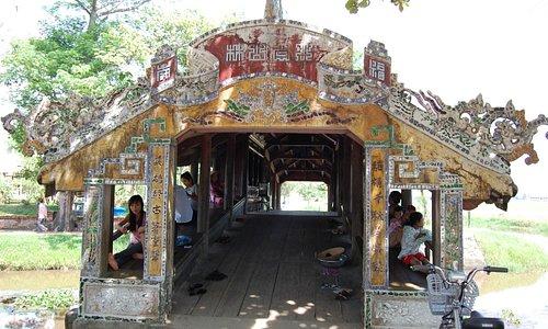 Decorated bridge entrance