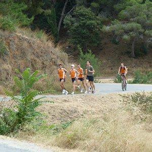 recieving the marathon team of the Netherlands