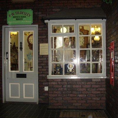 Newcastle under Lyme Museum & Art Gallery; Victorian shops - watch & clock maker