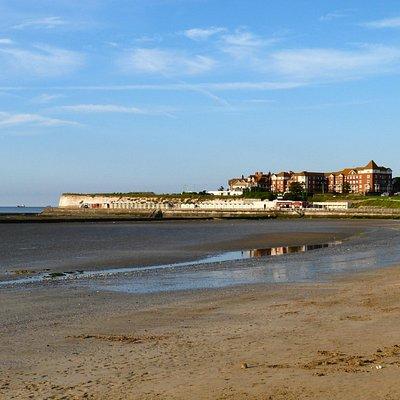 West Bay at low tide