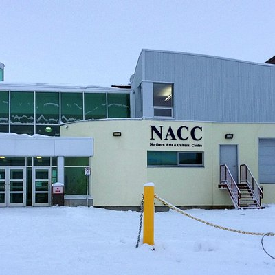 Northern Arts and Cultural Centre for the performing arts main entrance