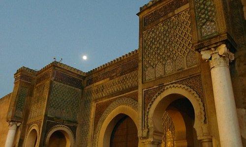 Bab Mansour at dusk