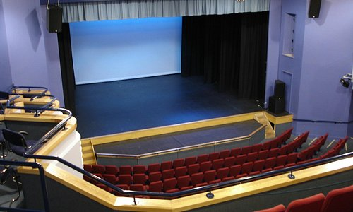 veiw of the stage from the balcony seating