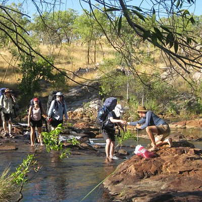 One of the many creek crossings