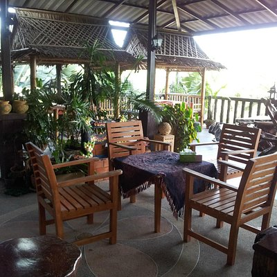Eating area, nice view