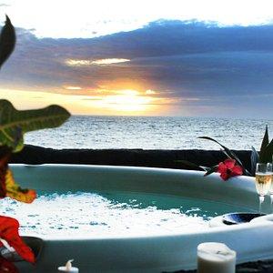 View from Outside Massage Lanai, Sunset