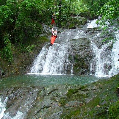 Zip Lining over 11 Waterfalls