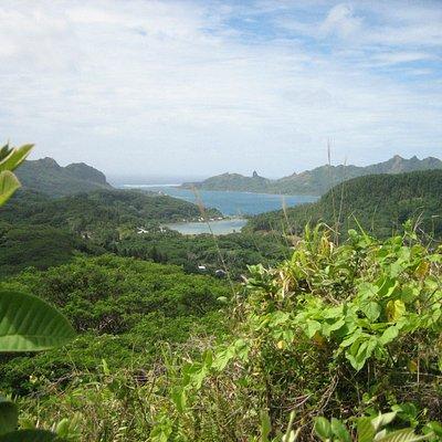 Belvédère de l'Eden Parc à Huahiné, Polynésie française.