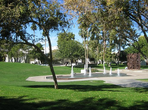 Fountain on east side-Civic Center