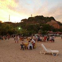 Praia 2 no final do dia