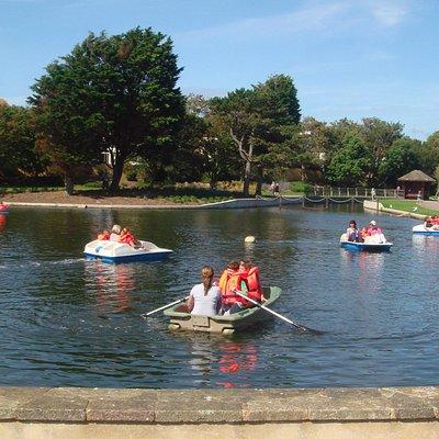 The boating lake at Egerton Park