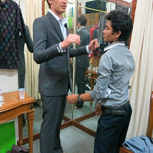A fitting at Anika Tailor Jan2013