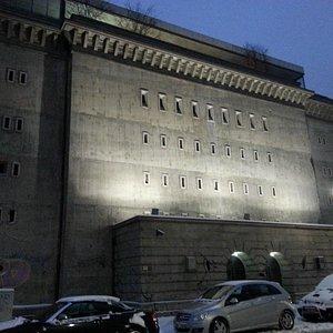 Façade of bunker/museum