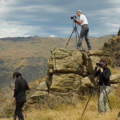 Photographing in the Nevis Valley in Summer, Otago New Zealand