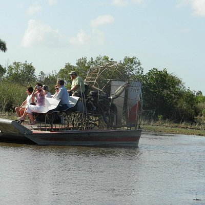 Thrilling airboat ride