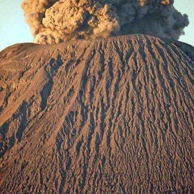 The Peak of Mt Semeru. 500 mm lense from Pananjakan [Mt Bromo].