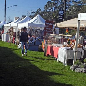 People enjoying our friendly atmosphere and wonderful local crafts.