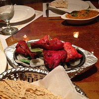 Chicken Tandoori... very good flavor, just a hair on the dry side.  Chicken Tikka Masala in the